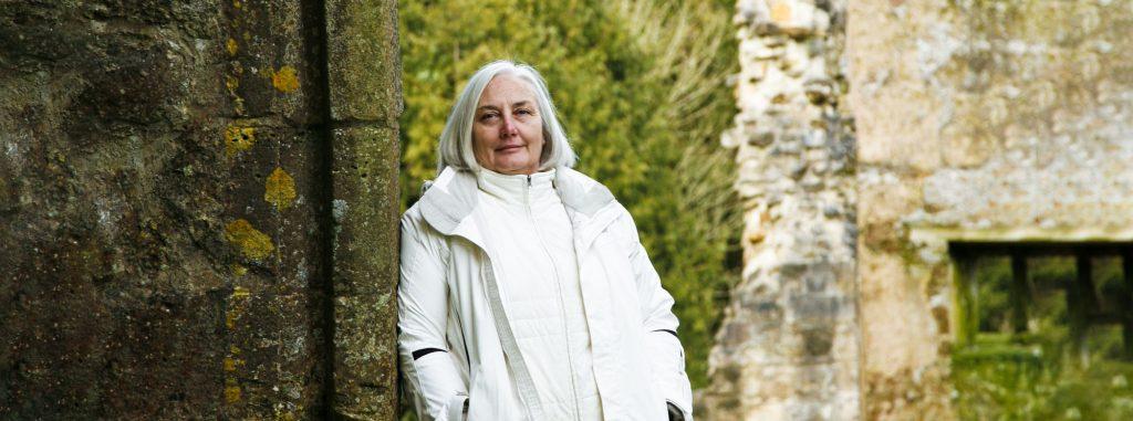 Barbara Golder in white